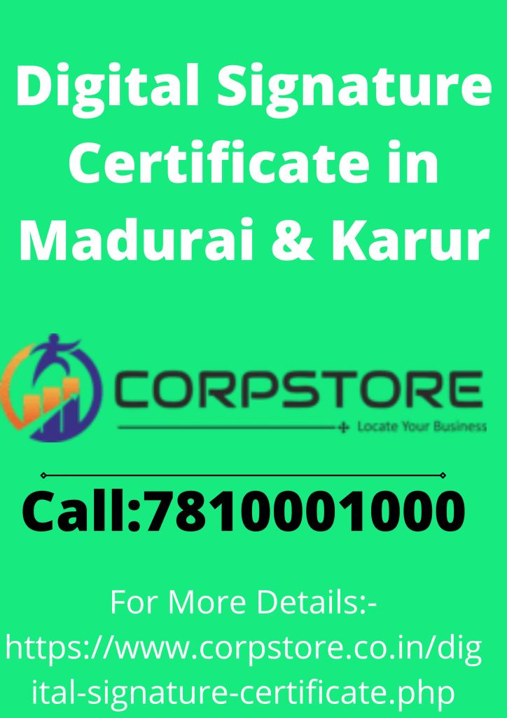 Digital Signature Certificate in Karur